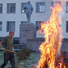 "photo ""Fire on Lenin's area"""