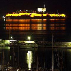 """фото """"Kushadasi Castle at night"""""""