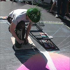 "photo ""Expressive street artist"""