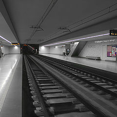 "photo ""Lines and perspective in metro station"""