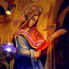 """photo """"Madonna in a Ukrainian Church"""""""