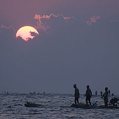"photo ""Land's End. Sunset. (Kanyakumari, India)"""
