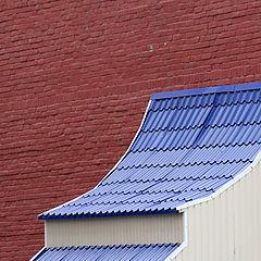 "фото ""Brick and dark blue"""