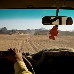 """фото """"Пустыня сохара вид из машины (7)"""""""