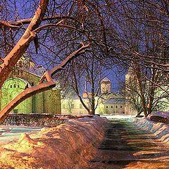 """фото """"Ярославово дворище ночью..."""""""