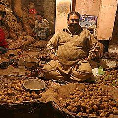 """photo """"The seller of a potato"""""""