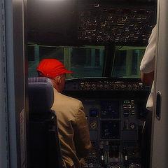 """photo """"Night flight with Niki Lauda"""""""