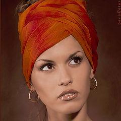 """фото """"Портрет в оранжевых тонах"""""""