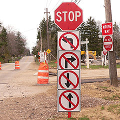 """фото """"A Very Serious Stop Sign"""""""