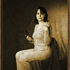 "photo ""Portrait of lady with a pipe"""