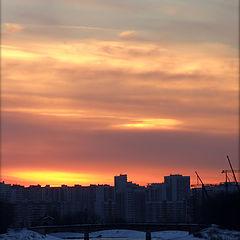 "photo ""City sunset."""