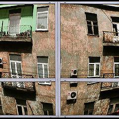 """фото """"Отражения. Зеленый балкон"""""""