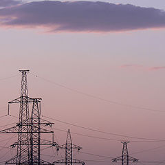 """фото """"Электрический закат"""""""