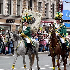 "photo ""Keln's cavalrymen on Day of the City. SAINT PETERSBURG 2006"""