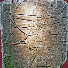 "photo ""The Assyrian bas-relief. The Militarism to Antiquities."""