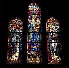 "photo ""glass windows of church"""