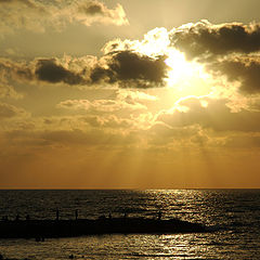 "photo ""Sunset in Tel-Aviv"""