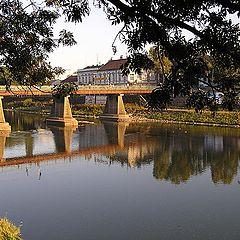 """фото """"Ужгород. Мост через реку Уж."""""""