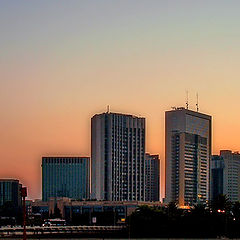 "photo ""Skyscrapers and sunrise..."""