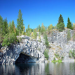 "photo ""Karelia. Opened marble mine in Ruskeala"""