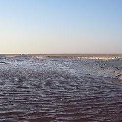 """photo """"Salt lake in the desert"""""""