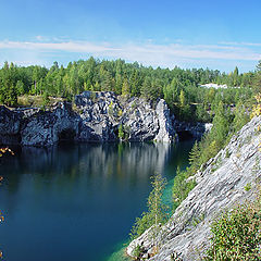 "photo ""Karelia. Ruskeala's marble opened mine #3"""