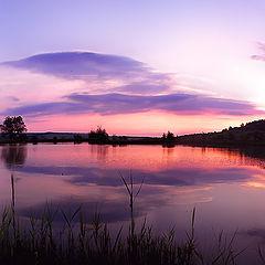 """фото """"Панорама """" Рассвет на озере """""""""""