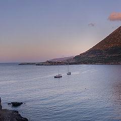 """фото """"Закат в средиземноморской бухте"""""""