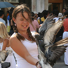 "фото ""на венецианской площади голубей..."""