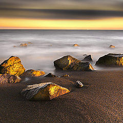 "photo ""Beach of Gold Stones"""