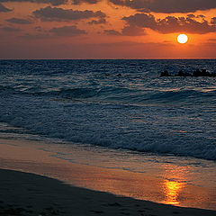 "фото ""Sunset over the beach 1"""