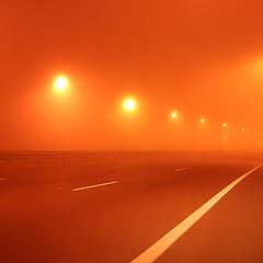 """photo """"Highway in the fog"""""""
