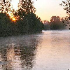 """фото """"sunrise on the river"""""""