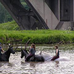 "photo ""Three maidens under the bridge."""