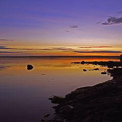 "фото ""Закат на Белом море или чертик, спускающийся с небес"""