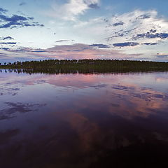 """фото """"Вечер на озере Плотичное или мимо щука проплывала"""""""