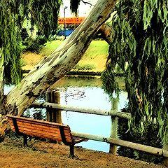 """photo """"Romantic bench..."""""""