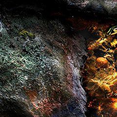 "photo ""Солнце в пещере (A sun beam in a cavern)"""