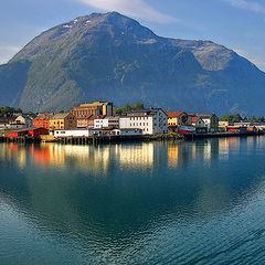 "photo ""Small town. Norway"""