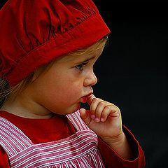 "photo ""little girls in red"""