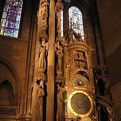 """photo """"Clock in Strabourg Cathedral"""""""
