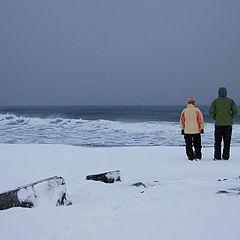 """photo """"B&W ocean"""""""