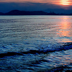 """photo """"Sunset in blue"""""""