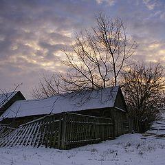 "photo ""Winter in Russian village"""