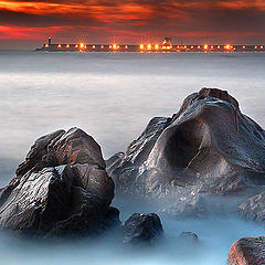 """фото """"Leixoes Port at end of day"""""""