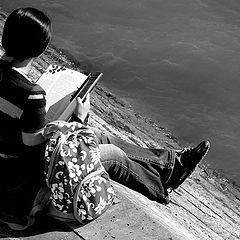 "фото ""Reading girl..."""