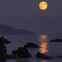 """фото """"на восходе полной луны"""""""