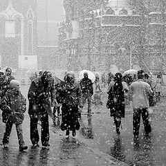 "фото ""Апрельский снегопад"""