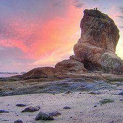 "photo ""Itapuca Rock at twilight"""