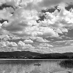 "photo ""Fishing Under Cotton Skies"""